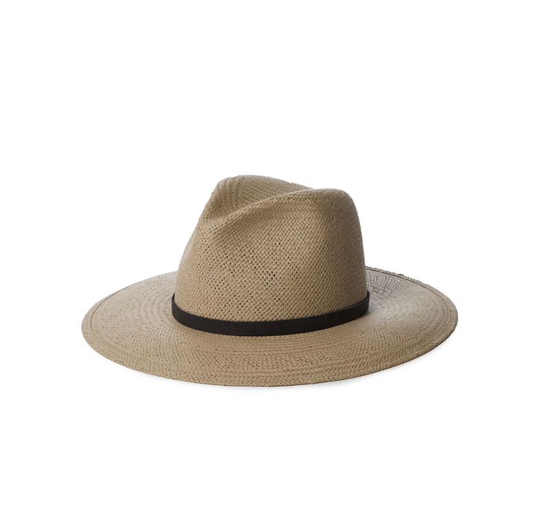 Cooper Packable Straw Hat | Grey & Navy