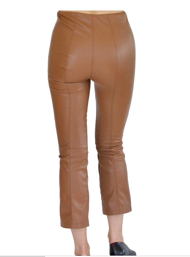 Susruta Vegan Stretch Leather Crop Flare
