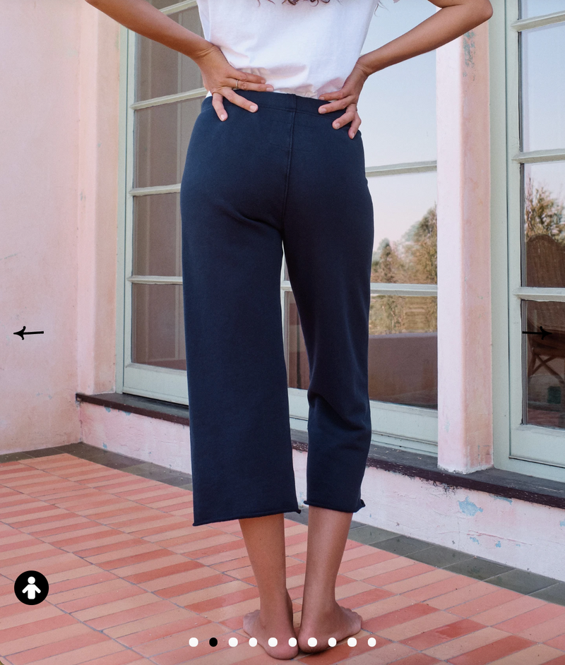 Cropped Wide Leg Sweatpant | British Royal Navy