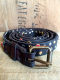 Cowhide Leather Embellished Belt