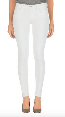 811 Mid-Rise Skinny in Blanc