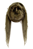 Cashmere and Silk Scarf in Olive
