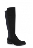 Celina Boot in Black Suede
