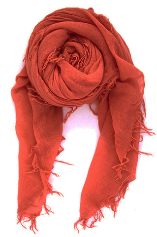 Cashmere and Silk Scarf in Arabian Spice
