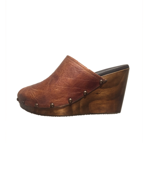 Taylor Platform Wedge | Cognac Brown