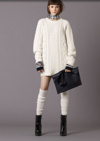 Cable Knit Long Sweater