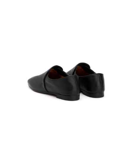 Revy Soft Nappa Smoking Slipper | Black
