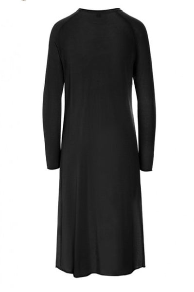 Knit Tunic With Side Slit | Black