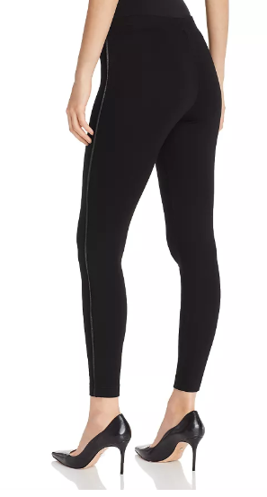 Leggings with Piping | Black