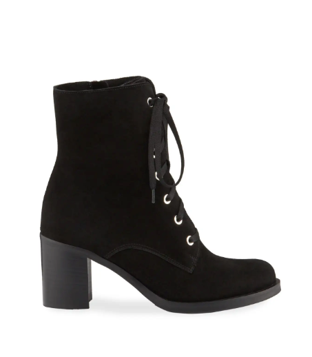 Parker Lace Up Bootie | Black Suede