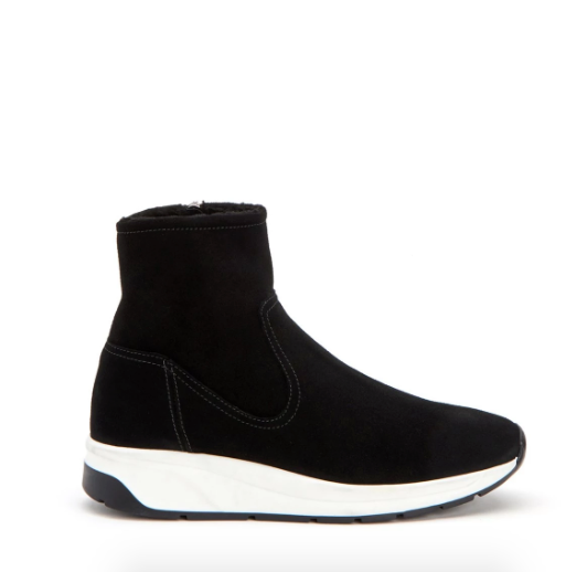 Betty Shearling Sneaker | Black