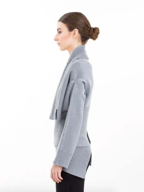 Wrap Neck Convertible Cardigan | Winter White