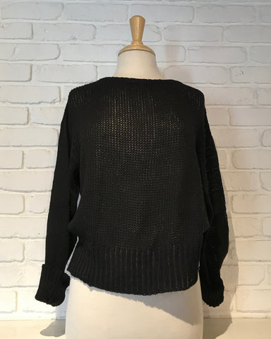 Tiffany Long Sleeve Sweater | Black