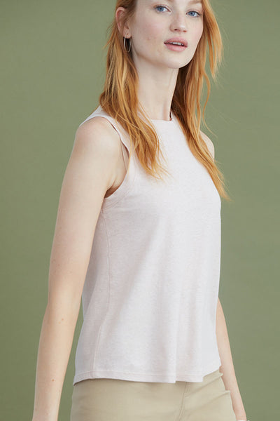 Cotton Jersey Tank | Mauve Chalk