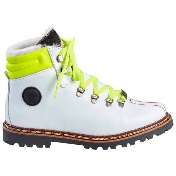 Town 3 Bootie | White Yellow Neon