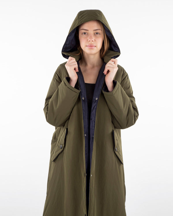 Uriel Long Thin Puffy Jacket | Khaki