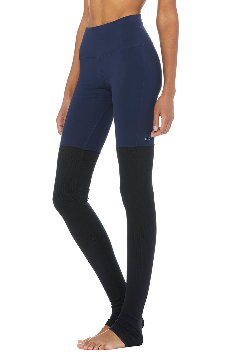 High Waist Goddess Legging | Navy & Black