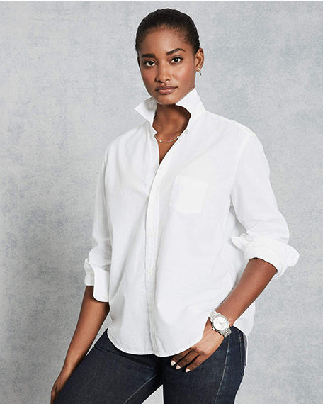 Eileen Button Down | White Chambray