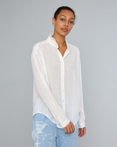 Shirred Blouse | White