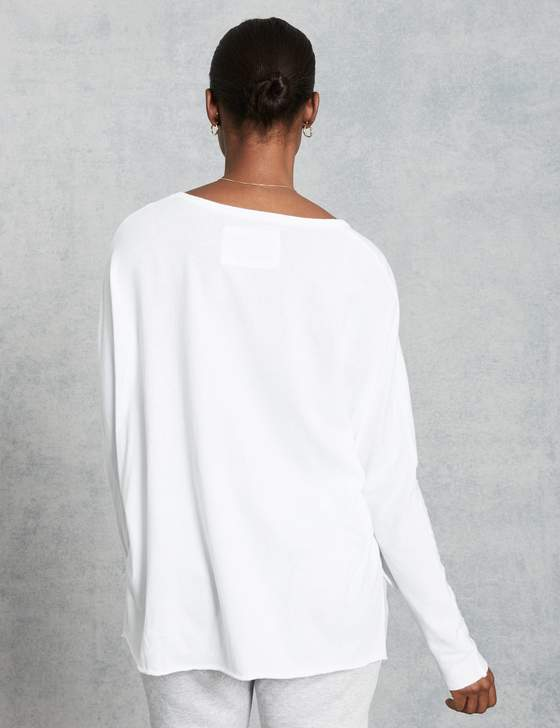Deep V Neck Tee | White