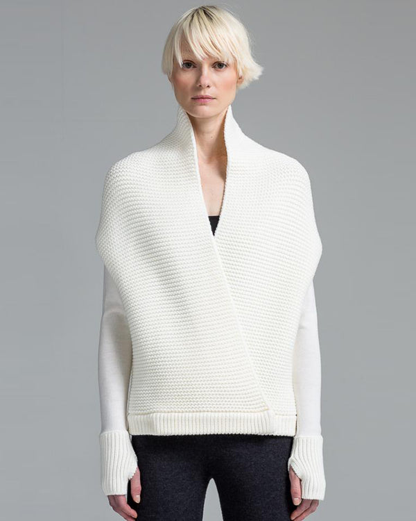 Wrapping Stitch Cocoon Cardigan | Winter White