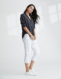 Cropped Sweatpant With Raw Hem | Whiteout