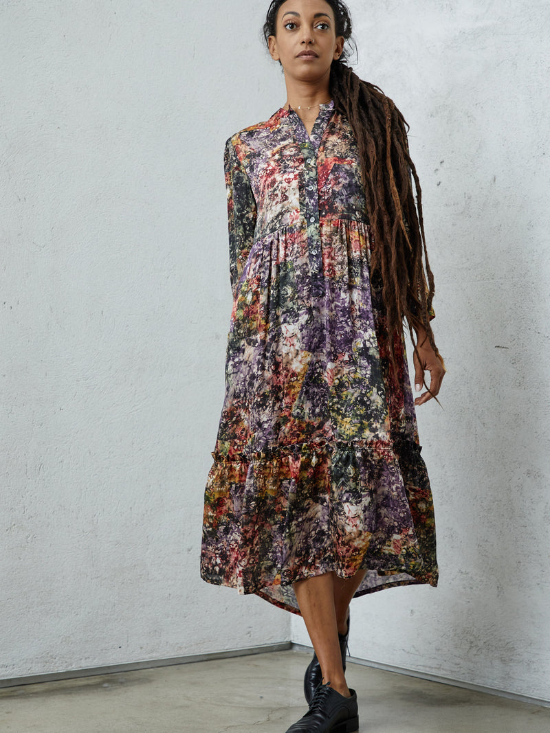 Twila Printed Dress Plum