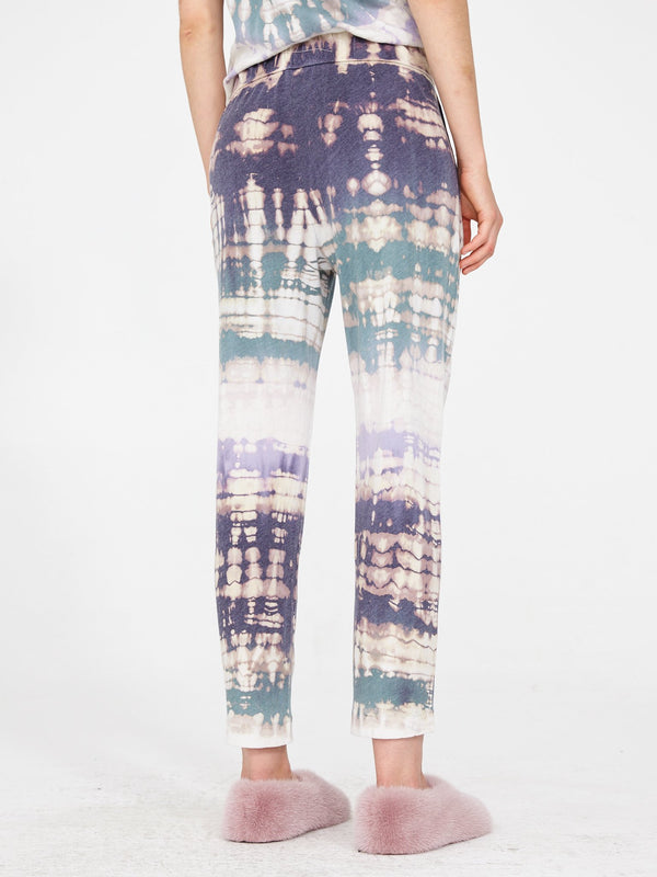 Cotton Easy Pant | Violet Tie Dye