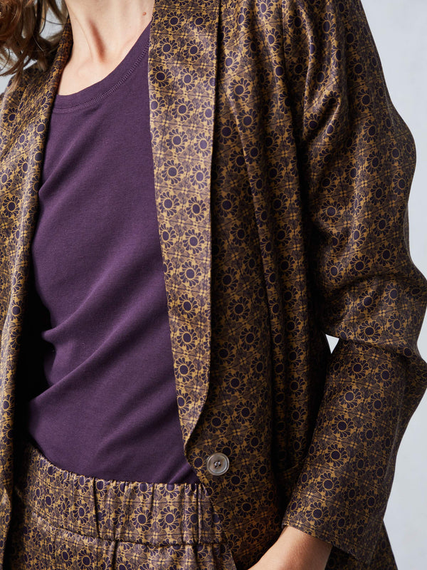 Shawl Blazer | Golden Floral