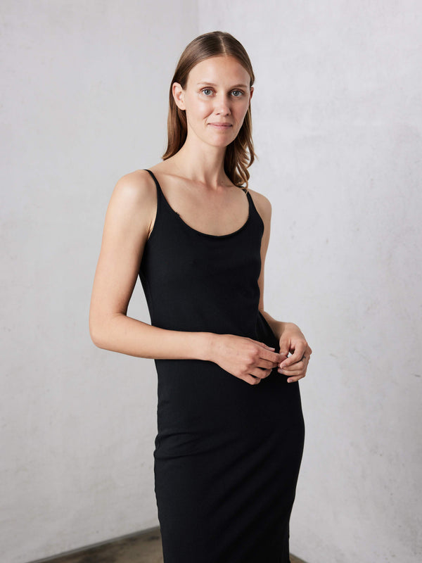 Black Jersey Layering Tank Dress