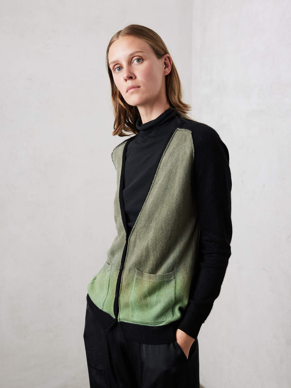 Army Horizon Colorblock Cashmere Cardigan