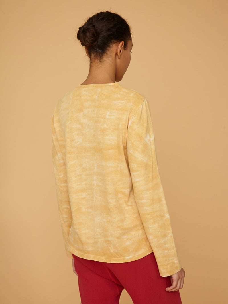 Long Sleeve Crew Neck Tie Dye | Mellow Yellow