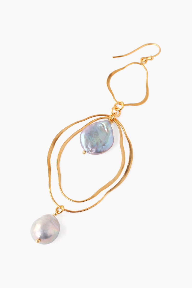 Dangle Earring With Freshwater Pearl | Gold