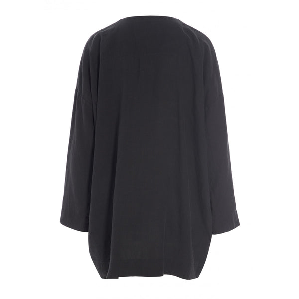 Airy Linen Shirt | Black