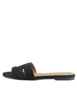 Alibi Slide | Black Nubuck