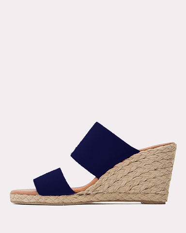 Amalia Espadrille Wedge | Navy