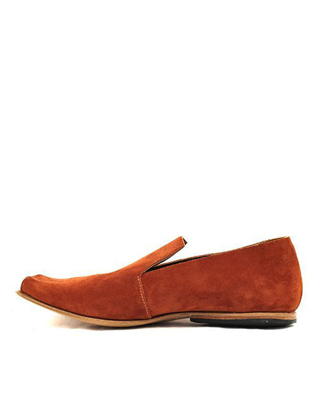 Battens Suede Loafer | Red