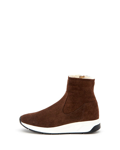 Betty Shearling Sneaker | Chestnut