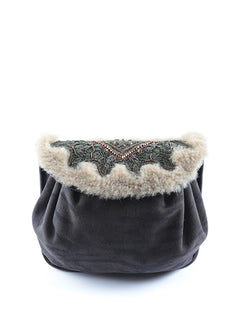 Bizi Accordion Shearling Bag | Tiger