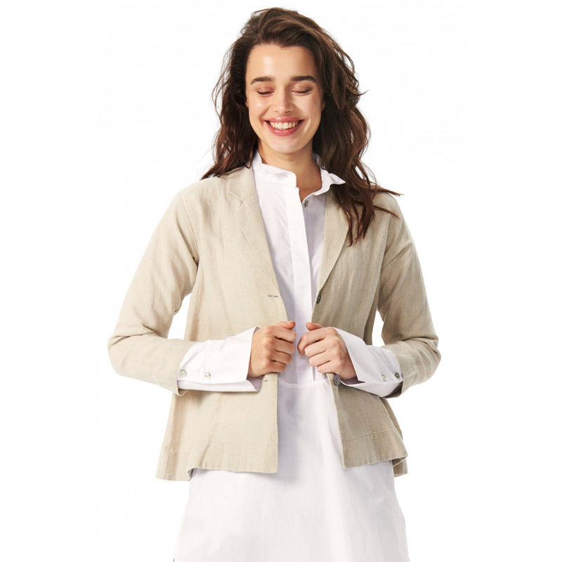 Button Down Linen Blazer | Kit Melange