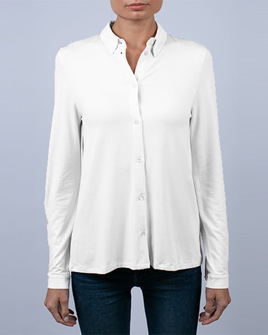 Viscose Long Sleeve Button Down | Multiple Colors