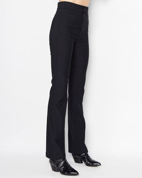 Ruth High Waist Boot Flare Pant | Black