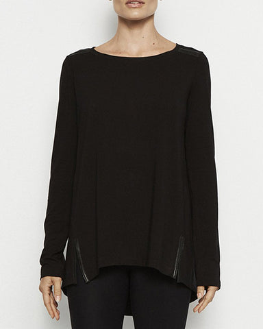 Oliver High Low Jersey Tunic | Black