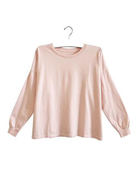 Billie Drop Shoulder Long Sleeve | Blush