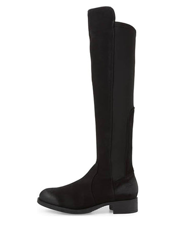 Bunt Waterproof Over The Knee Boot | Black Suede