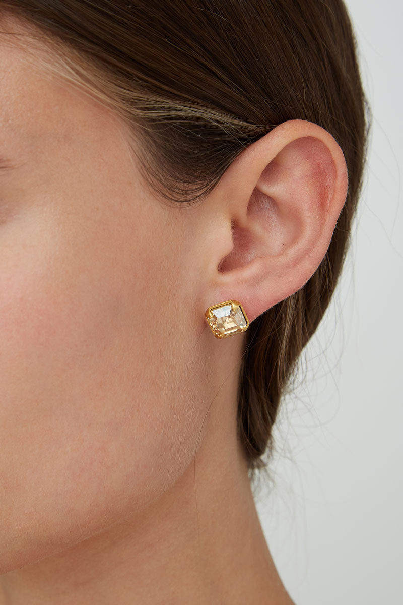 Gold Plated Crystal Stud