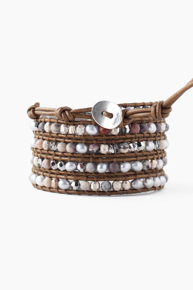 Wrap Bracelet | Grey Mix