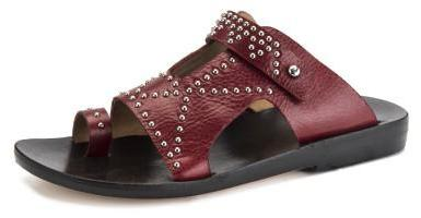 Bowie Studded Sandal | Red