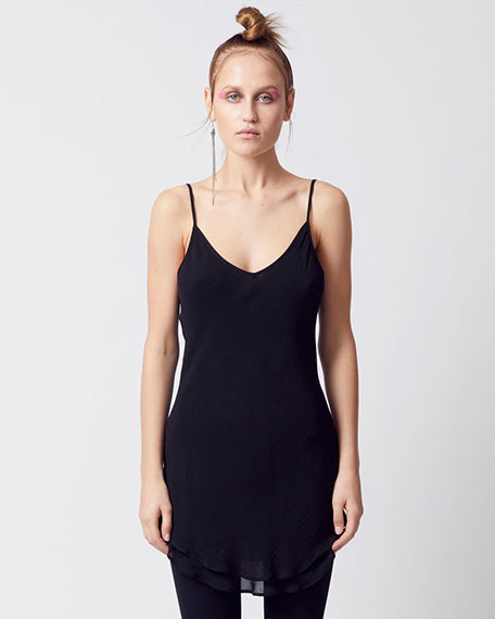 Pusan Double Layer Cami | Black