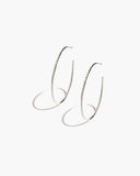 Large Diamond Hoops | Sterling Silver